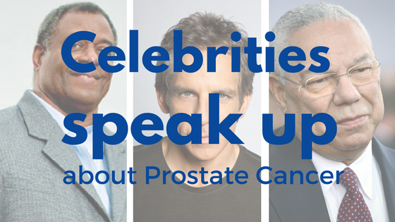 Celebrities who talk abotu prostate cancer