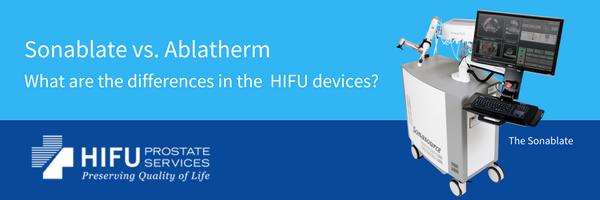 Sonablate HIFU versus Ablatherm