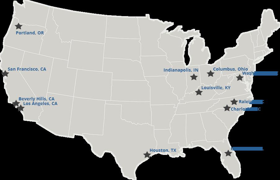 HIFU Treatment Facilities Map