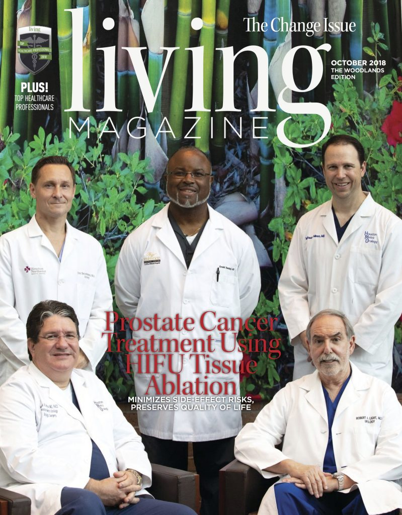 HIFU For Prostate Cancer featured in the News - Living Magazine, Houston, TX