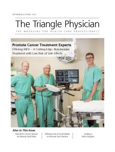 HIFU Prostate Services and HIFU physicians in NC featured in The Triangle Physician